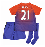 2016-17 Manchester City Third Mini Kit (Silva 21)