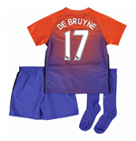2016-17 Manchester City Third Mini Kit (De Bruyne 17)