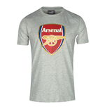 2016-2017 Arsenal Puma Big Crest Fan Tee (Light Grey) - Kids
