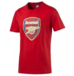 2016-2017 Arsenal Puma Big Crest Fan Tee (Red) - Kids