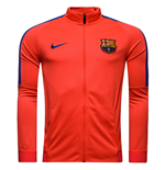 2016-2017 Barcelona Nike Revolution Stretch Strike Jacket (Crimson)