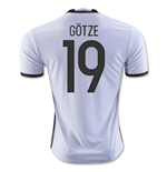 2016-2017 Germany Home Shirt (Gotze 19)
