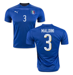 2016-2017 Italy Puma Home Shirt (Maldini 3) - Kids