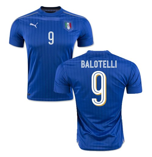 2016-2017 Italy Puma Home Shirt (Balotelli 9) - Kids