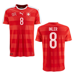 2016-2017 Switzerland Puma Home Shirt (Inler 8) - Kids