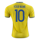 2016-2017 Sweden Home Adidas Shirt (Your Name) -Kids