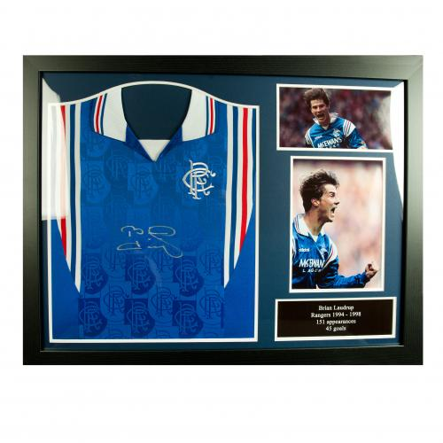 Rangers F.C. Laudrup Signed Shirt (Framed)