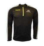 2016-2017 Glasgow Warriors Rugby Half Zip Training Sweatshirt (Black)