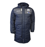 2016-2017 Scotland Macron Rugby Below Knee Puffa Jacket (Navy)