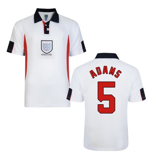 Score Draw England World Cup 1998 Home Shirt (Adams 5)