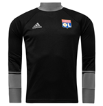 2016-2017 Olympique Lyon Adidas Training Top (Black)