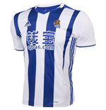 2016-2017 Real Sociedad Adidas Home Football Shirt