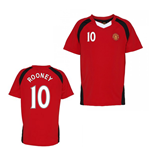 Official Man United Training T-Shirt (Red) (Rooney 10)