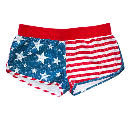 USA Women's PATRIOTIC Faded American Flag Board Shorts