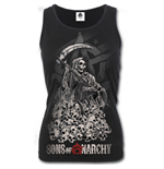 Soa Reaper Skulls - Sons of Anarchy Razor Back Top Black
