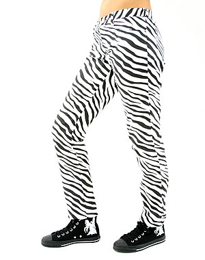 Black Pistol Close Pants Zebra