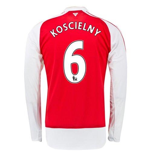 best authentic bdad4 a5c40 2015-16 Arsenal Home Long Sleeve Shirt (Koscielny 6) - Kids