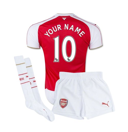size 40 50c7c 7f929 2015-16 Arsenal Home Baby Kit (Your Name)