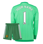 2015-16 Manchester United Home Goalkeeper Mini Kit (Your Name)