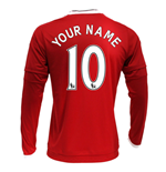 2015-2016 Man Utd Long Sleeve Home Shirt (Your Name)