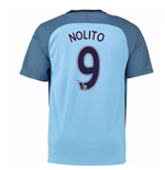 2016-17 Man City Home Shirt (Nolito 9) - Kids