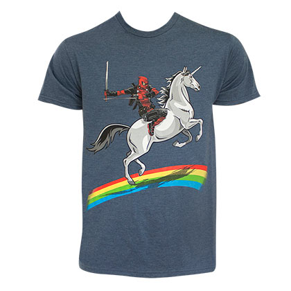 DEADPOOL Rainbow Unicorn Tee Shirt
