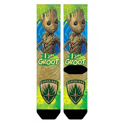GUARDIANS OF THE GALAXY Groot Sublimated Crew Socks