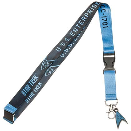STAR TREK Blue Comic Lanyard