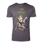 MARVEL COMICS Guardians of the Galaxy Vol. 2 Men's I am Groot T-Shirt, Large, Dark Grey