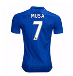 2016-17 Leicester City Home Shirt (Musa 7) - Kids