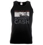 Johnny Cash Men's Vest Tee: Studio Shot