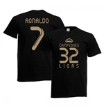 2012 Real Madrid Champions T-Shirt (Black) - Ronaldo 7