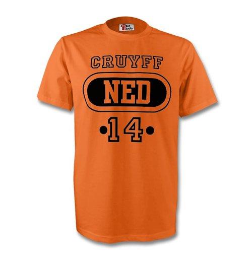 Buy Official Johan Cruyff Holland Ned T Shirt Orange