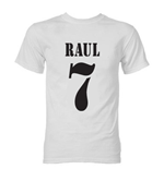 Raul Real Madrid Retro Style T-Shirt (White)