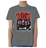 Rush Men's Tee: World a Stage Tour 1977