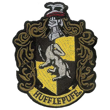 HARRY POTTER Hufflepuff Iron On Patch