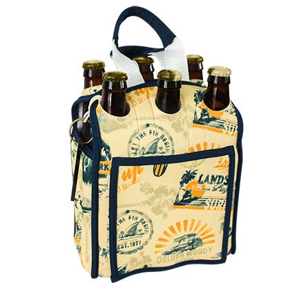 Landshark Insulated Six Pack Beer Tote Bag