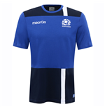 2016-2017 Scotland Macron Travel Cotton T-Shirt (Blue)