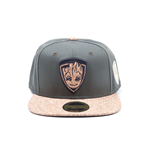 MARVEL COMICS Guardians of the Galaxy Vol. 2 Groot Character Snapback Baseball Cap, One Size, Dark Grey/Cork