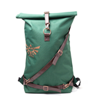 NINTENDO Legend of Zelda Link Belt Straps Top Loader Backpack, Green/Brown
