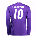 2016-17 Real Madrid Away Longsleeve Shirt (Your Name)