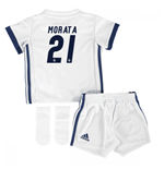 2016-17 Real Madrid Home Adidas SMU Mini Kit (Morata 21)