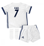 2016-17 Real Madrid Home Adidas SMU Mini Kit (Raul 7)