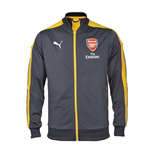 2016-2017 Arsenal Puma Stadium Jacket (Ebony-Yellow)