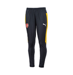 2016-2017 Arsenal Puma Tapered Training Pants (Ebony-Yellow)