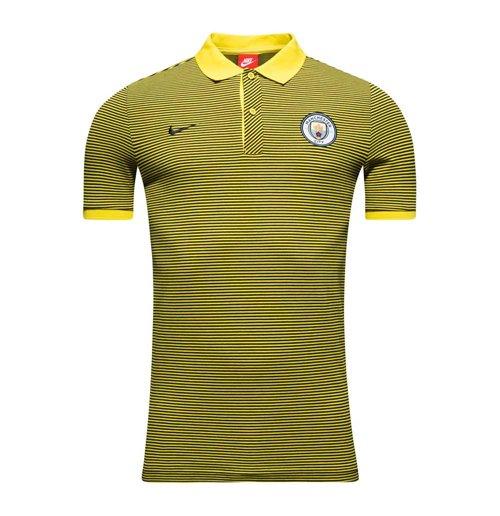 ecb51534588 2016-2017 Man City Nike Authentic Grand Slam Polo Shirt (Opti Yellow)