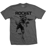 Marvel Comics Men's Tee: Guardians of the Galaxy Vol. 2 Rocket Mono