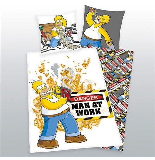 Buy Official Simpsons Duvet Set Man At Work 135 X 200 Cm
