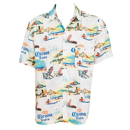 CORONA EXTRA Beach Lounge Hawaiian Shirt