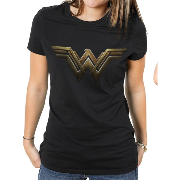 Wonder Woman Movie - Logo - Women Fitted T-shirt Black